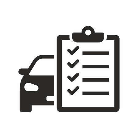 Illustration pour Car maintenance list icon - image libre de droit