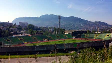 Foto de Olympic Stadium Kosevo in Sarajevo, Bosnia and Herzegovina - Imagen libre de derechos
