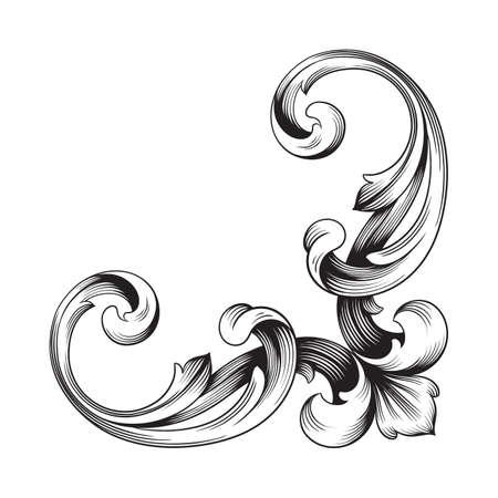 Illustration pour Classical baroque of vintage element for design. - image libre de droit