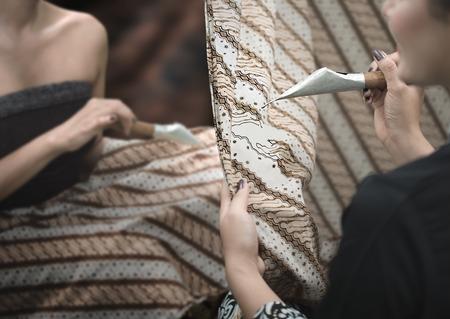 Photo for Batik painting tradition in Java. Batik Indonesia pattern, - Royalty Free Image