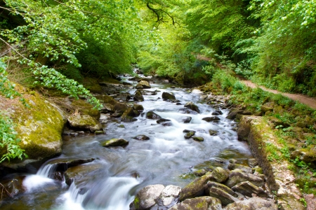 The River Lyn Watersmeet near Lynton in Devon