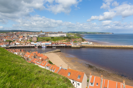 Photo for Whitby North Yorkshire England uk seaside town and coast view - Royalty Free Image