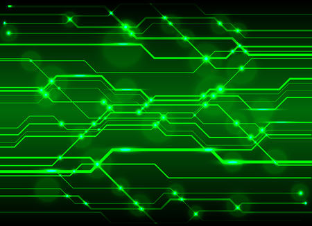 Illustration pour Technology green circuit abstract - image libre de droit
