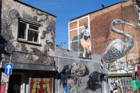 Foto de Street art off Brick Lane, London - Imagen libre de derechos