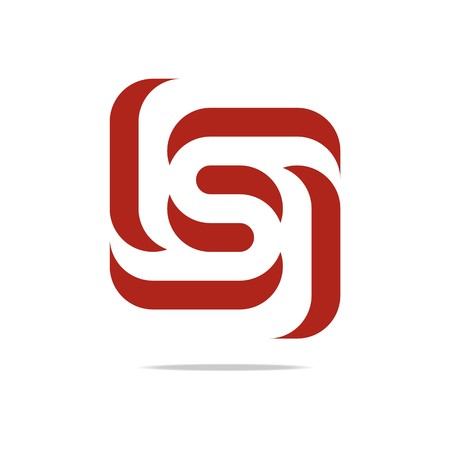 Illustration pour Logo Design Letter S Red spin Symbol Icon Abstract Vector - image libre de droit