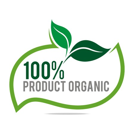Illustration pour Logo natural product organic healthy garden design vector - image libre de droit