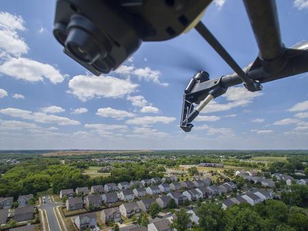Foto de A personal drone flying through the air - Imagen libre de derechos