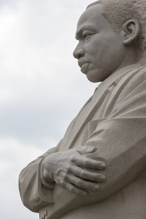 Foto de Washington, DC - April 25, 2014:  The Martin Luther King, Jr. National Memorial in Washington, DC honors Dr. King's national and international contributions and vision for all to enjoy a life of freedom, opportunity, and justice.  - Imagen libre de derechos