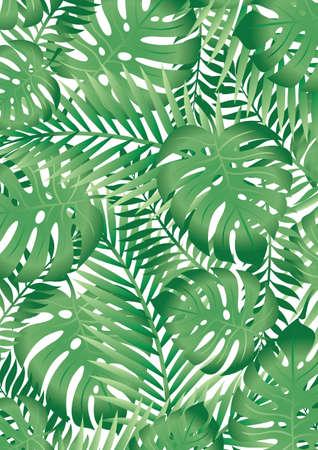 Illustration pour Tropical leaves - image libre de droit