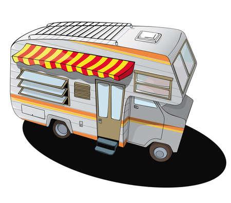 Illustration pour comic style camper van - image libre de droit