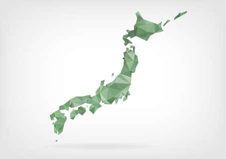 Ilustración de Low Poly map of Japan - Imagen libre de derechos