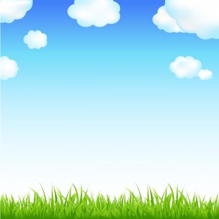 Illustration pour Nature Background With Sunburst And Flowers - image libre de droit