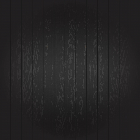 Black Wooden Background, Vector Illustration