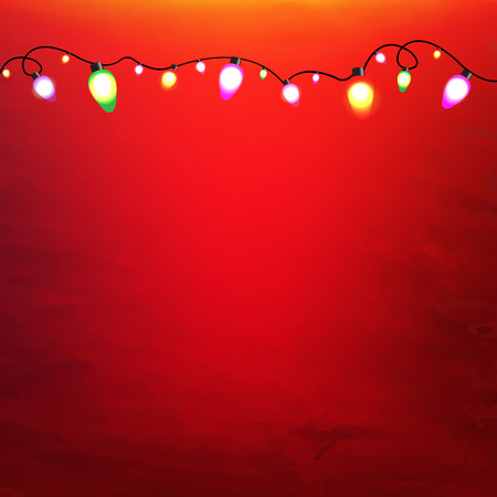 Illustration for Christmas Garland With Gradient Mesh, Vector Illustration - Royalty Free Image