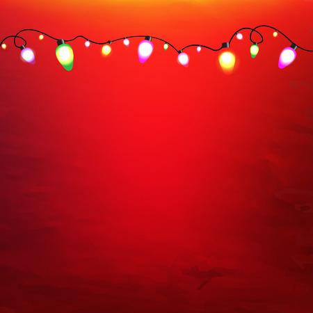 Illustration pour Christmas Garland With Gradient Mesh, Vector Illustration - image libre de droit