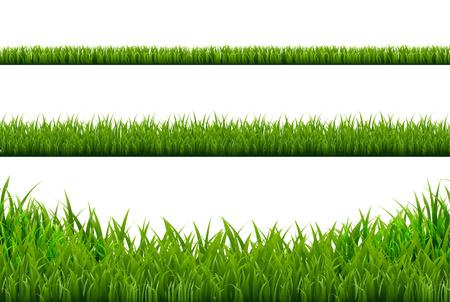Ilustración de Grass Borders Set, Vector Illustration - Imagen libre de derechos