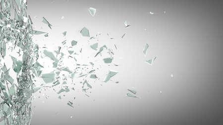 Foto de broken glass background. High resolution 3d render  - Imagen libre de derechos