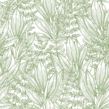 Ilustración de Wild flowers seamless pattern vector illustration - Imagen libre de derechos