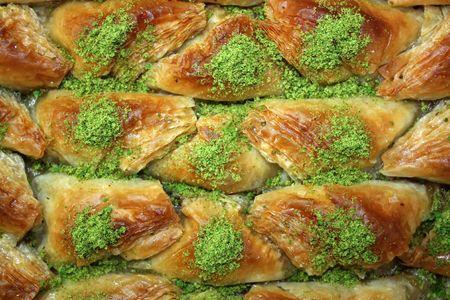 Baklava - Traditional sweet Middle-Eastern dessert.