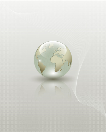 Illustration pour Abstract Earth globe composition  Full editable vector illustration - image libre de droit