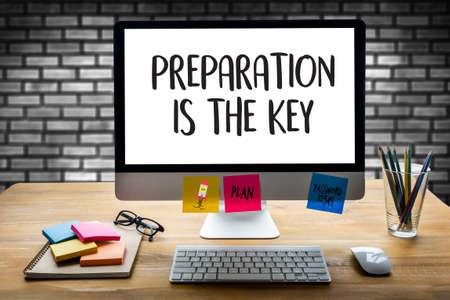 Foto de PREPARATION IS THE KEY plan concept - Imagen libre de derechos
