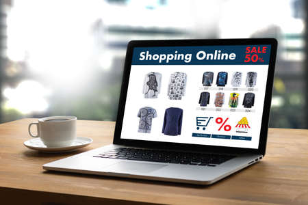 Photo for Online Shopping Add to Cart Online Order Store buy Sale Digital Online ecommerce Marketing - Royalty Free Image