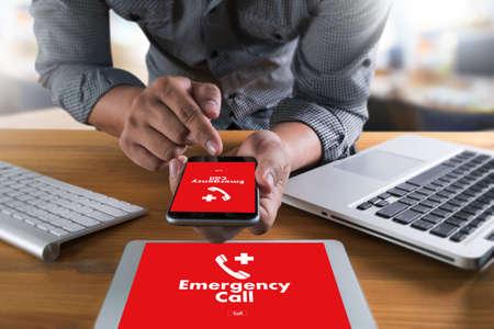 Foto de Emergency Call Center Service Urgent Accidental Hotline medical service - Imagen libre de derechos