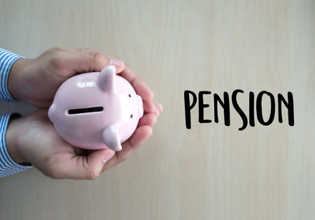 Photo for Positive  pension Happiness money saving for Retirement financial - Royalty Free Image
