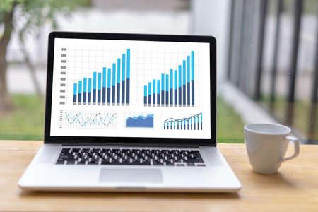 Foto de man business analytics and financial Business finances and accounting concept. - Imagen libre de derechos