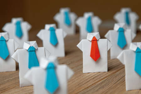 Photo for Search and selection of  good worker Leader. HR, HRM, HRD concepts - Royalty Free Image