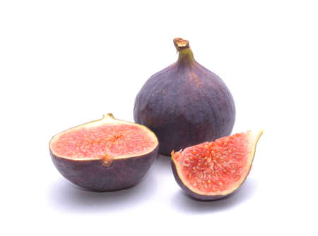 Photo for fresh figs isolated on white background - Royalty Free Image