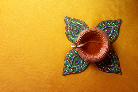 Photo for Diwali Lamp Indian Festival Diwali - Royalty Free Image