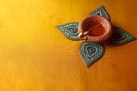 Photo for Diwali Lamp Indian Festival Diwali - Royalty Free Image