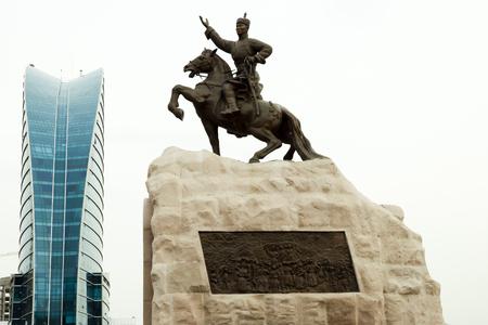 Photo pour Statue of Damdin Sukhbaatar - Ulaanbaatar - Mongolia - image libre de droit