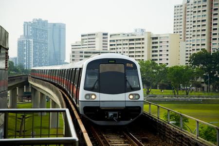 Photo pour Public Metro Railway - Singapore - image libre de droit