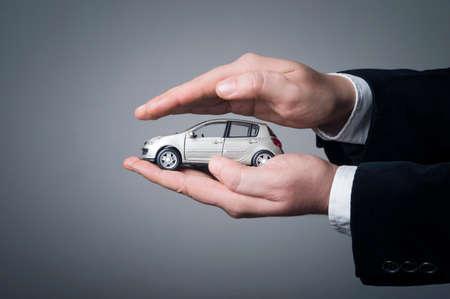 Foto de Professional car insurance solution for the best protection. Car (automobile) insurance and collision damage waiver concepts. - Imagen libre de derechos