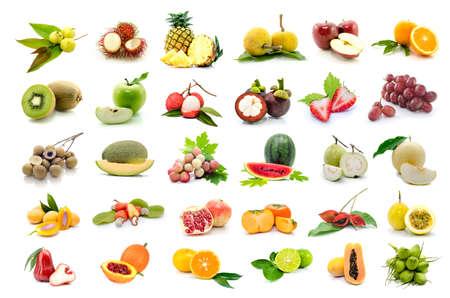 Photo for set of fruits on white background. - Royalty Free Image