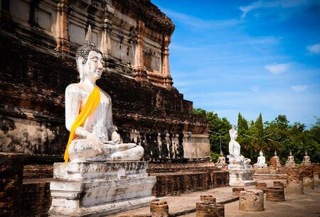 Photo for The Buddha statue and ancient remains in the Thailand - Royalty Free Image