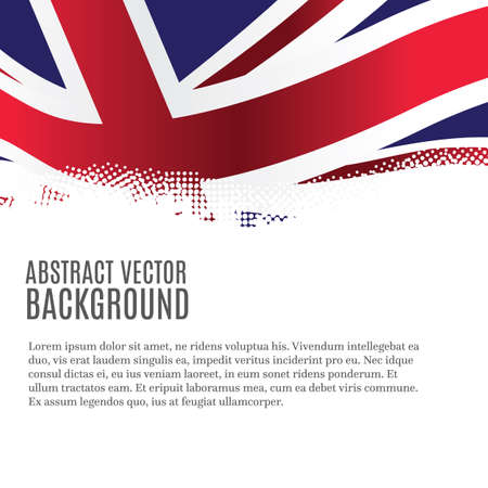 Ilustración de Vector background with United Kingdom flag and copy space - Imagen libre de derechos