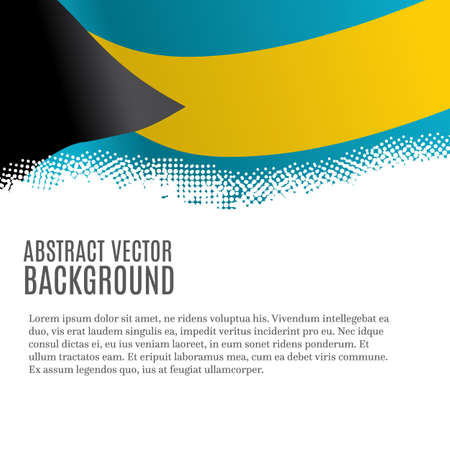 Illustration pour Vector background with flag of Bahamas and copy space - image libre de droit