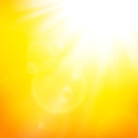 Ilustración de abstract background with summer sun and lens flares - Imagen libre de derechos