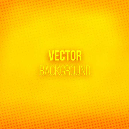 Illustration pour Yellow blurred background with halftone effect. Orange gradient. Dotted pattern. Shiny abstract background. Vector illustration. - image libre de droit