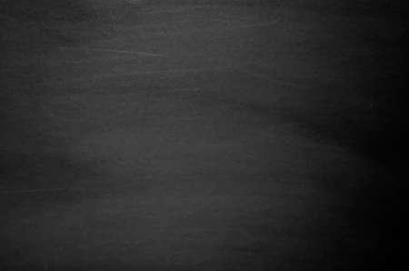 Illustration pour Close up of clean school blackboard. Chalk rubbed out on black horizontal chalkboard. Blackboard or chalkboard texture. Vector illustration. Grunge background. - image libre de droit