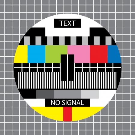 Illustration pour tv no signal monoscope - image libre de droit