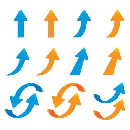 Ilustración de vector popular arrow sticker set pack isolated - Imagen libre de derechos