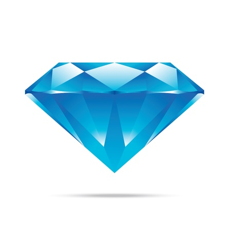 Illustration for popular blue diamond isolated realistic high quality elements  - Royalty Free Image