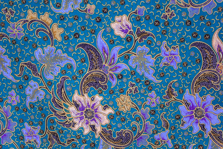 Foto de  batik sarong  pattern background in Thailand, traditional batik sarong in Asian - Imagen libre de derechos