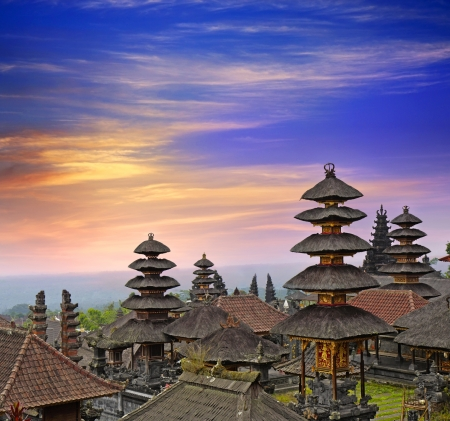 Photo for Pura Besakih - largest hindu temple of Bali, Indonesia  - Royalty Free Image