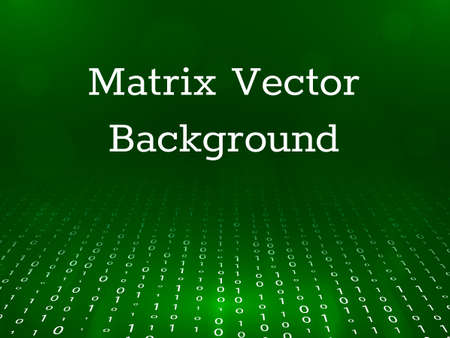 Illustration pour Matrix background in perspective. Vector illustration - image libre de droit