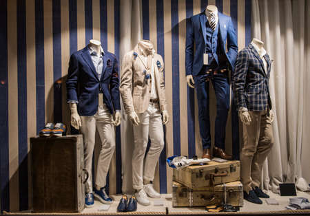 Photo for Casual men clothing in a store in Paris - Royalty Free Image
